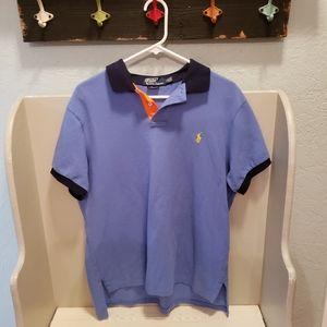 Polo Ralph Lauren Polo Shirt Blue Orange size L
